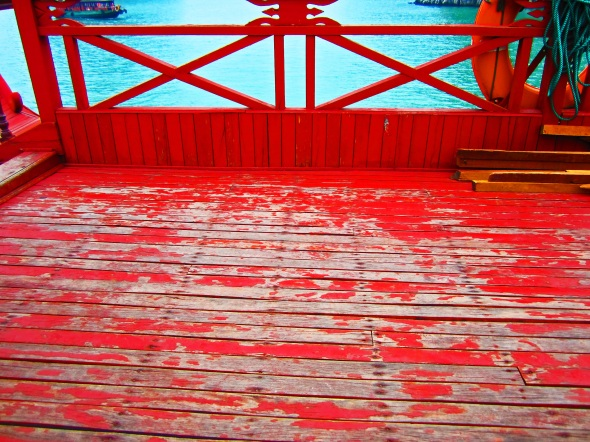 On deck - Halong Bay