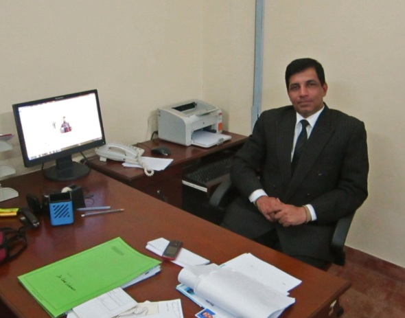 Major Ezaz today - in his office at AUW