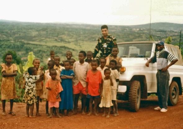 Major Ezaz in Byumba, Northern Rwanda, 1994
