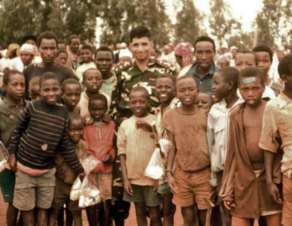 Major Ezaz in Rwanda (1994) shortly before the start of the genocide