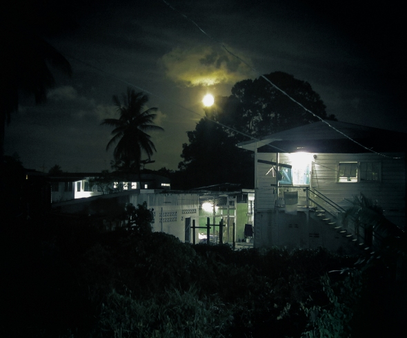 Full moon over Georgetown