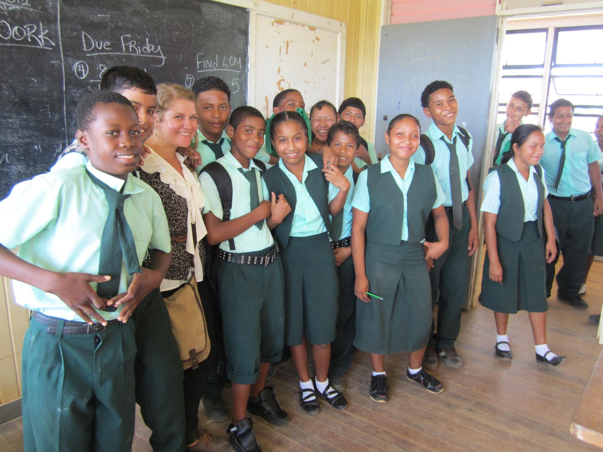 Volunteer and class