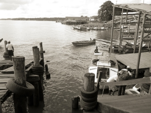 The dock at Bartica