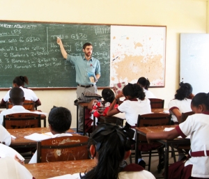 Volunteer teaching in Bartica