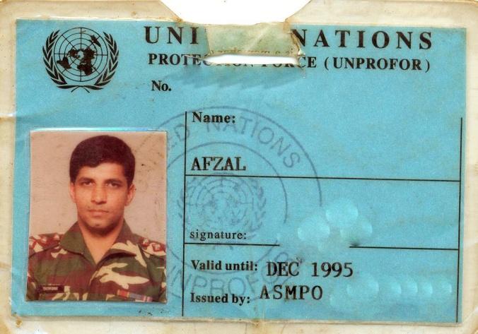 UN ID badge