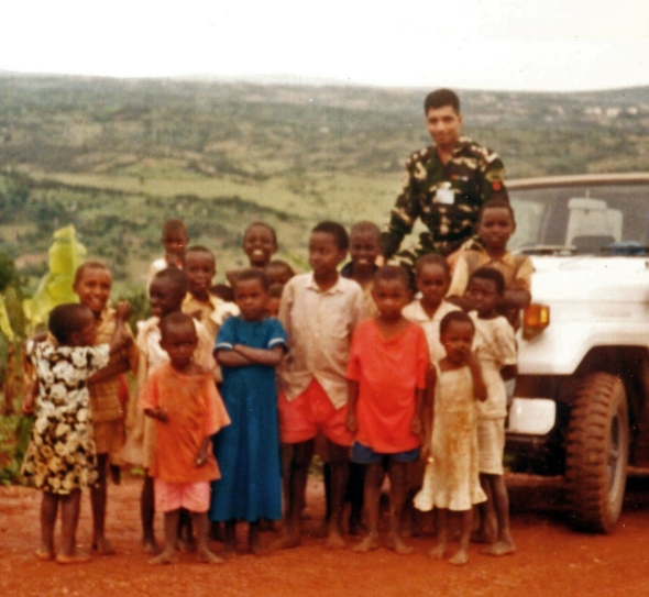 In Rwanda - shortly before the start of the genocide
