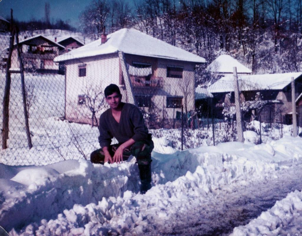 The snow in Bihac