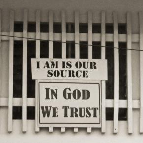 A prominent message across Guyana...