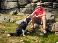Dad and a posing collie
