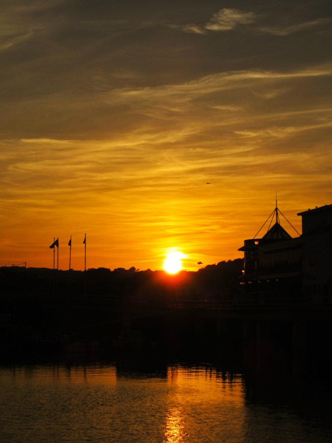Sunset at Torquay Harbour