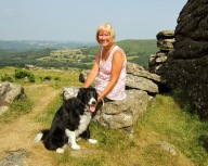 Mum and a posing collie