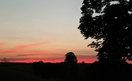 Sunset over the farme's fields