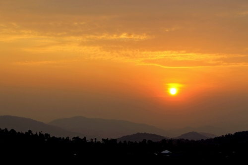Sunset over Nyanza hills