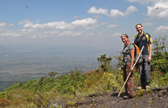 Kim and I (halfway up a volcano)